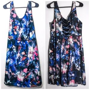 Celestial Stars Plus Size Fit and Flare Dress 1x